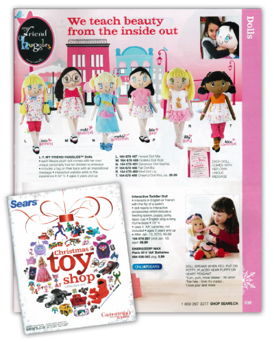my friend huggles sears christmas toy catalog 2012