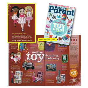Image My Friend Huggles Dolls picked for Today's Parent Magazine Top Toys!