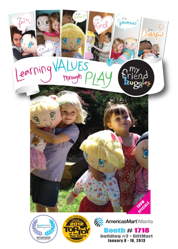 Learning Values through Play - My Friend Huggles - Americas Mart Atlanta - Booth #1718