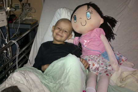 My Friend Huggles shares a visit with a five year old boy with Acute Lymphoblastic Leukemia