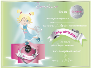 My Friend Huggles Generous Certificate