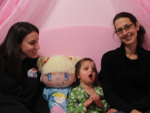 """My Friend Huggles 'Sofia doll has a very special home in a Make-A-Wish """"bedroom Make-over"""" for a young girl with Zellweger Syndrome."""