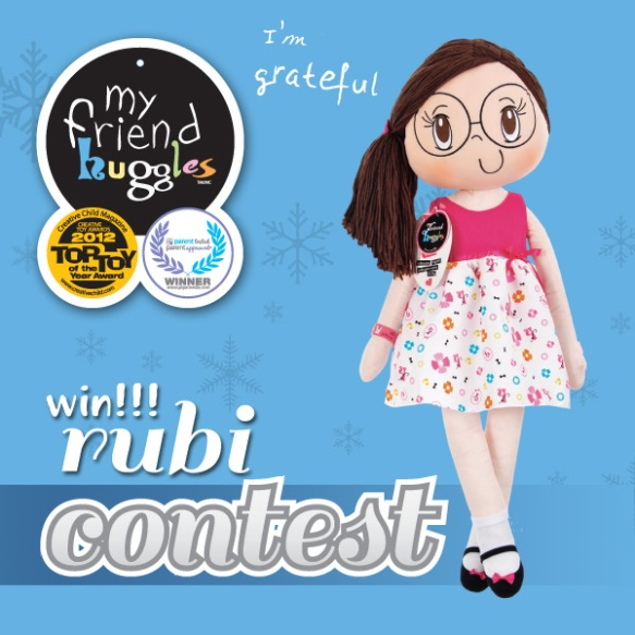 My Friend Huggles Win Rubi Contest