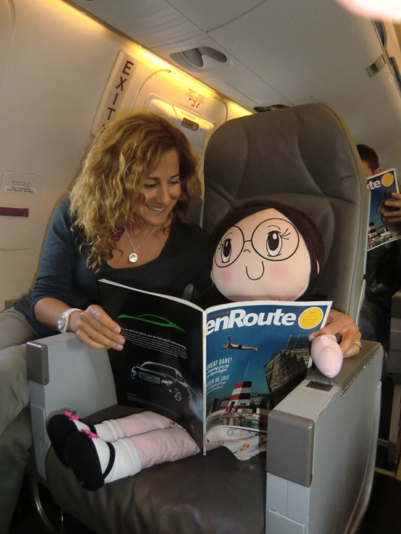 My Friend Huggles president, Brenda Katz shares a playful flight to New York with Rubi