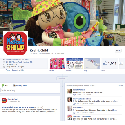 Kool & Child's Facebook Page