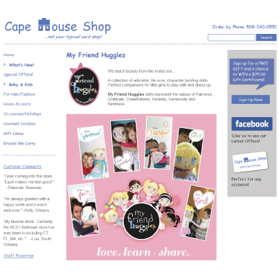 My Friend Huggles Retailer Spotlight: The Cape House Shop