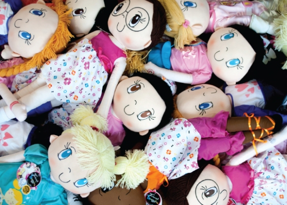 My Friend huggles dolls getting ready to go to Starlight Children's Foundation