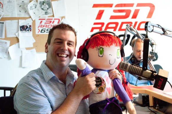 My Friend Huggles at TSN Radio 990 with John Bartlett