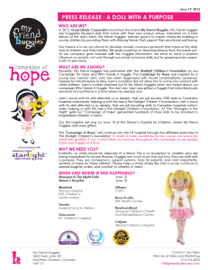My Friend Huggles press release thumbnail - Campaign of Hope