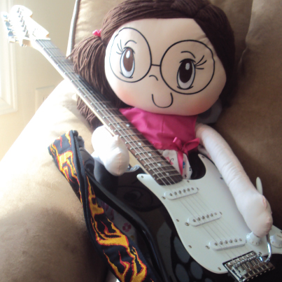 My Friend Huggles Rubi doll making some noise to Oh Canada this Canada Day holiday.