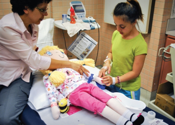Shriners Hospital for Children – using my Friend Huggles dolls to teach the scary process of operation and what a young child will expect.