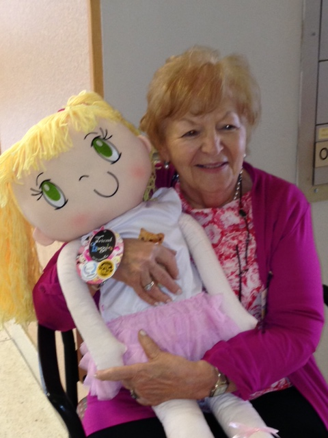 A Grandma with My Friend Huggles Lily Doll