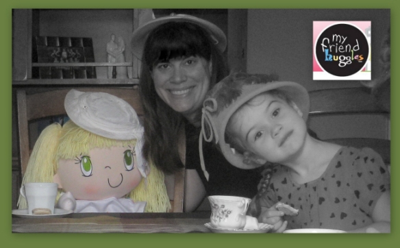 My Friend Huggles Lily doll to a celebratory 'Back to University for a Second Year in Nursing Hot Chocolate Tea Party!'