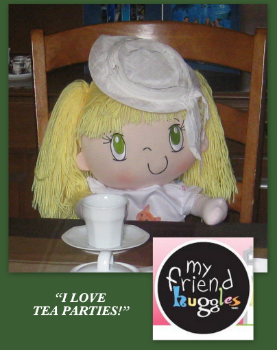 My Friend Huggles Lily doll having a Hot Chocolate Tea Party!