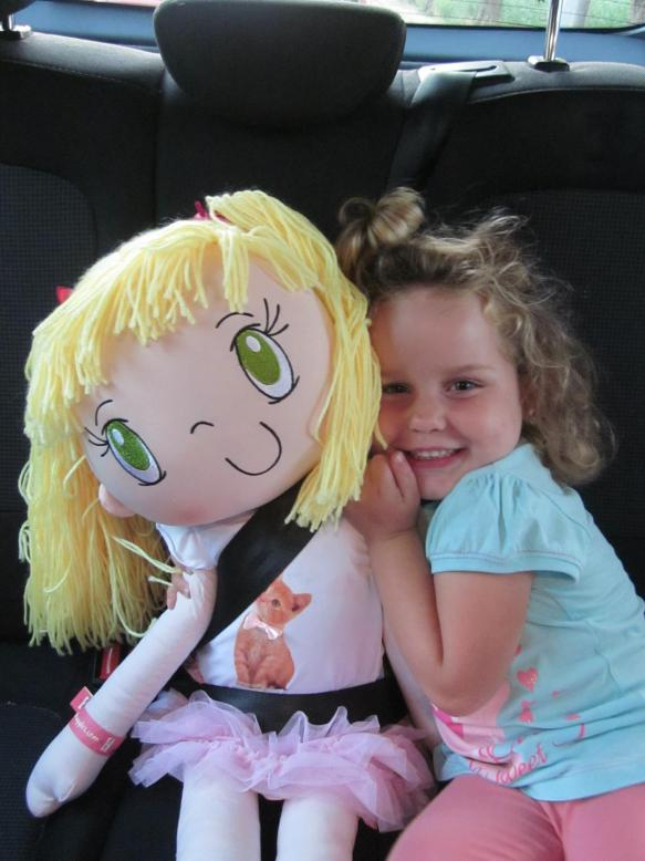 A little girl from Holland and My Friend Huggles Lily.