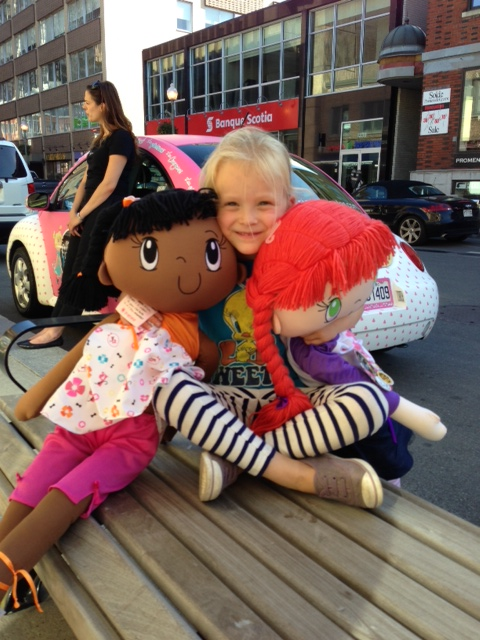A Huggles Friend with My Friend Huggles Kira and Mia Dolls