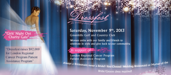 My Friend Huggles is supporting Dress Fest 2013, a Charitable Gala where you wear your wedding dress to!